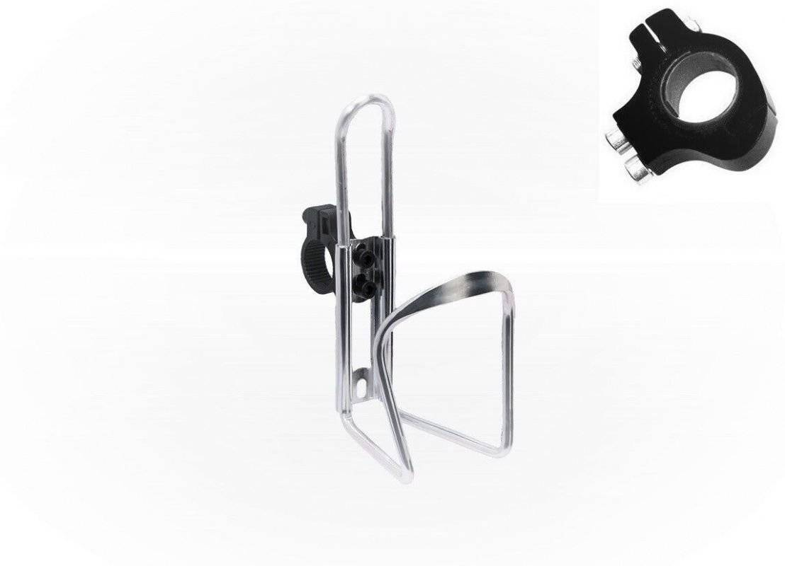 Флягодержатель универсальный KMS, алюминиевый, со съемным креплением на руль, серебро, FWD3234087-16-2