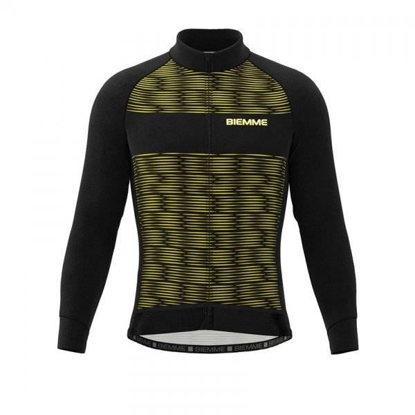 Куртка велосипедная Biemme CRITERIUM AC14, черно-желтый 2020