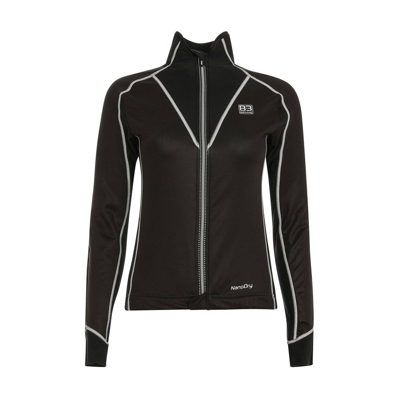 Куртка велосипедная женская Biemme Nanodry LADY, черный/серый 2020