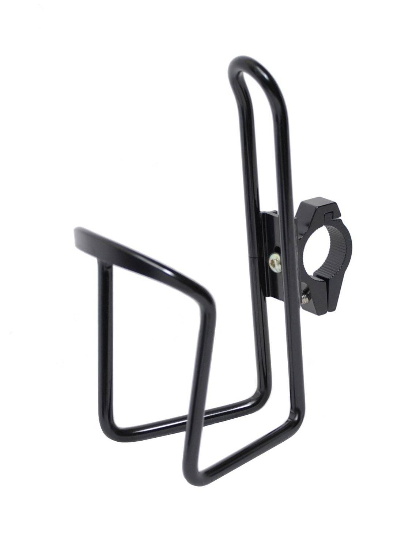 Флягодержатель универсальный KMS, алюминиевый, со съемным креплением на руль, черный, FWD3234087-16-1