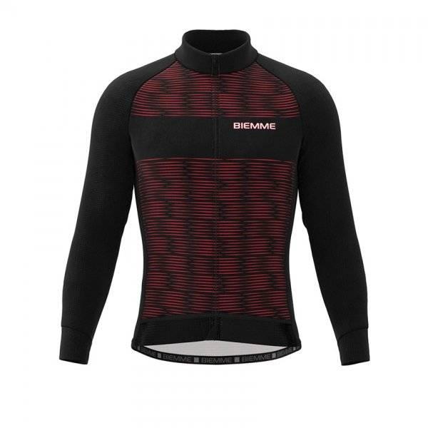 Куртка велосипедная Biemme CRITERIUM AC16, черно-красный 2020