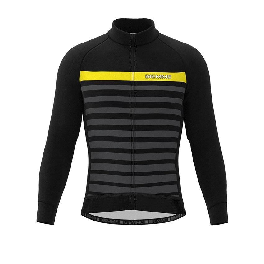Куртка велосипедная Biemme GAVIA, черно-желтый 2020