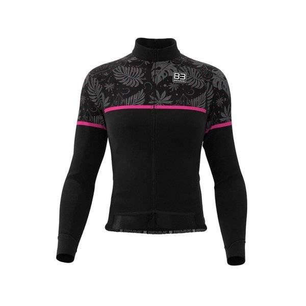 Куртка велосипедная женская Biemme DARK TEIDE AC26, черно-розовый 2020