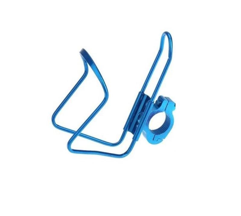 Флягодержатель универсальный, KMS, алюминиевый, со съемным креплением на руль, синий, FWD3234087-16-5