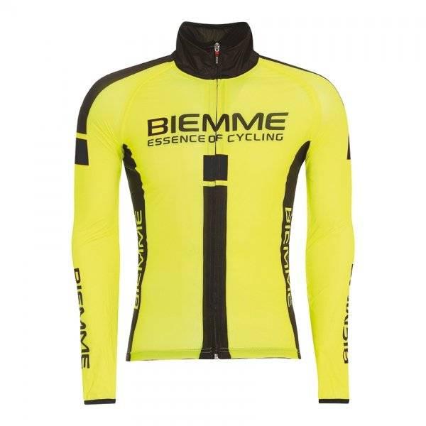 Куртка велосипедная Biemme JAMPA 2 Waterproof, желто-черный 2020