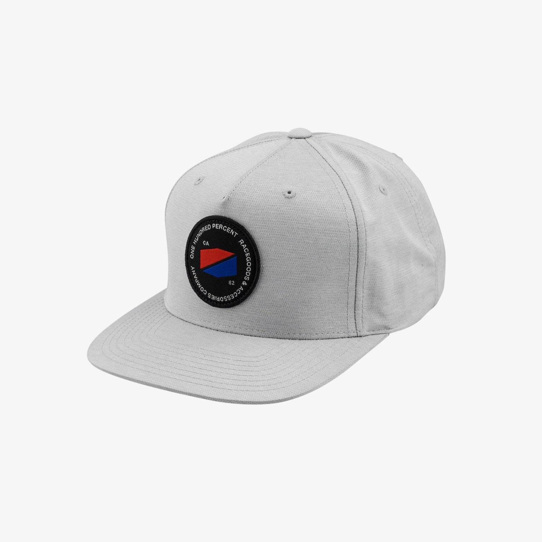 Бейсболка велосипедная 100% Jefferson Snapback Hat, Grey, 20078-007-01