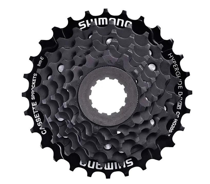 Кассета велосипедная Shimano ALTUS CS-HG200-7, 7 скоростей, 12-32 зуба, черный, ACSHG2007232T