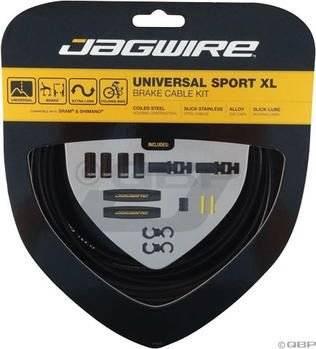 Тросы с оболочками для тормозов JAGWIRE UCK800, комплект, длинные, цвет чёрный