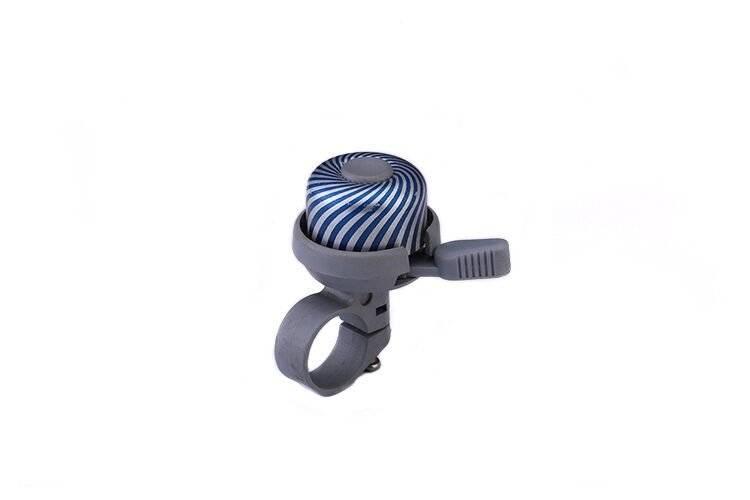 Звонок велосипедный L-A-61, алюминий/пластик, белый/синий, RNVLA6100001