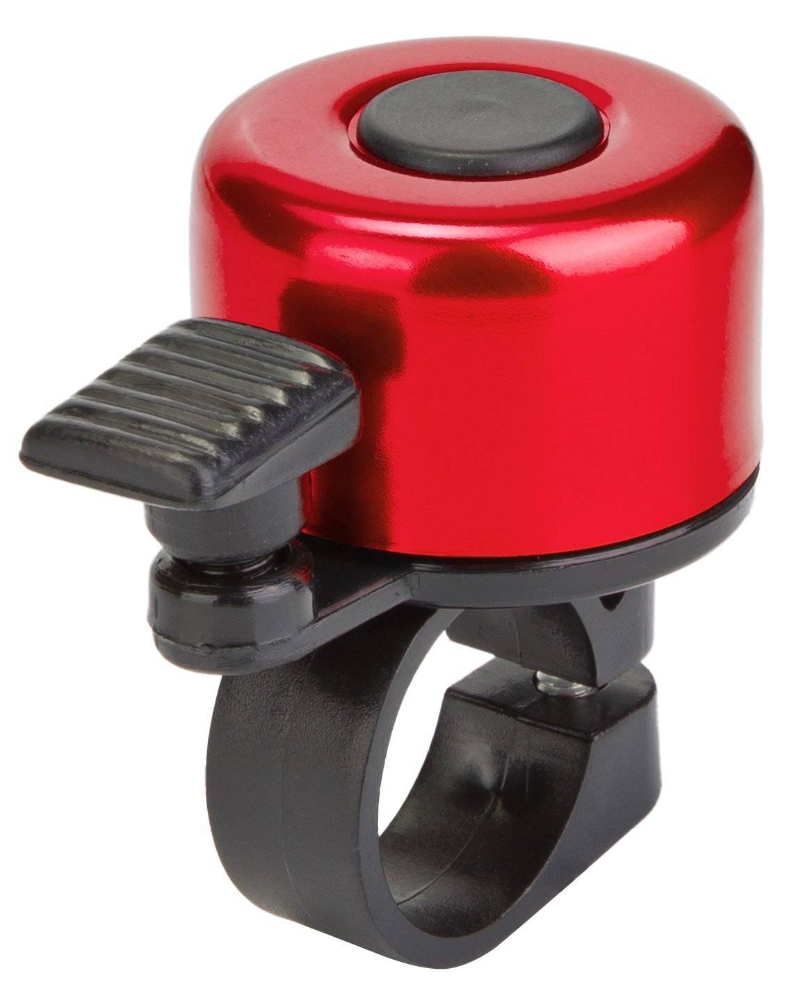 Звонок велосипедный 11A-01, алюминий/пластик, чёрно-красный, 210093