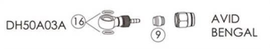 Фиттинги и переходники BENGAL для гидролиний AVID, BENGAL в блистере, DH50A03A