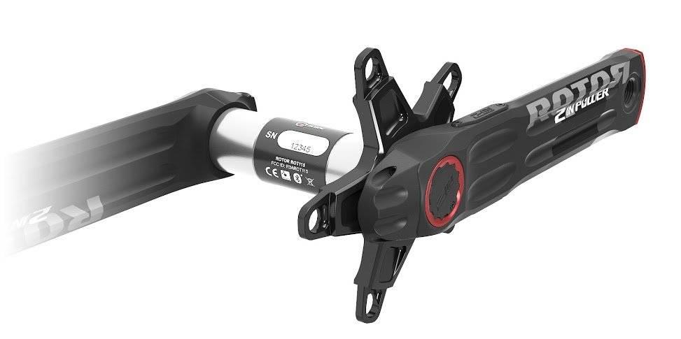 Шатуны с измерителем мощности Rotor 2Inpower BCD110 Black/Red 172.5mm (C13-026-20010-001), фото 3