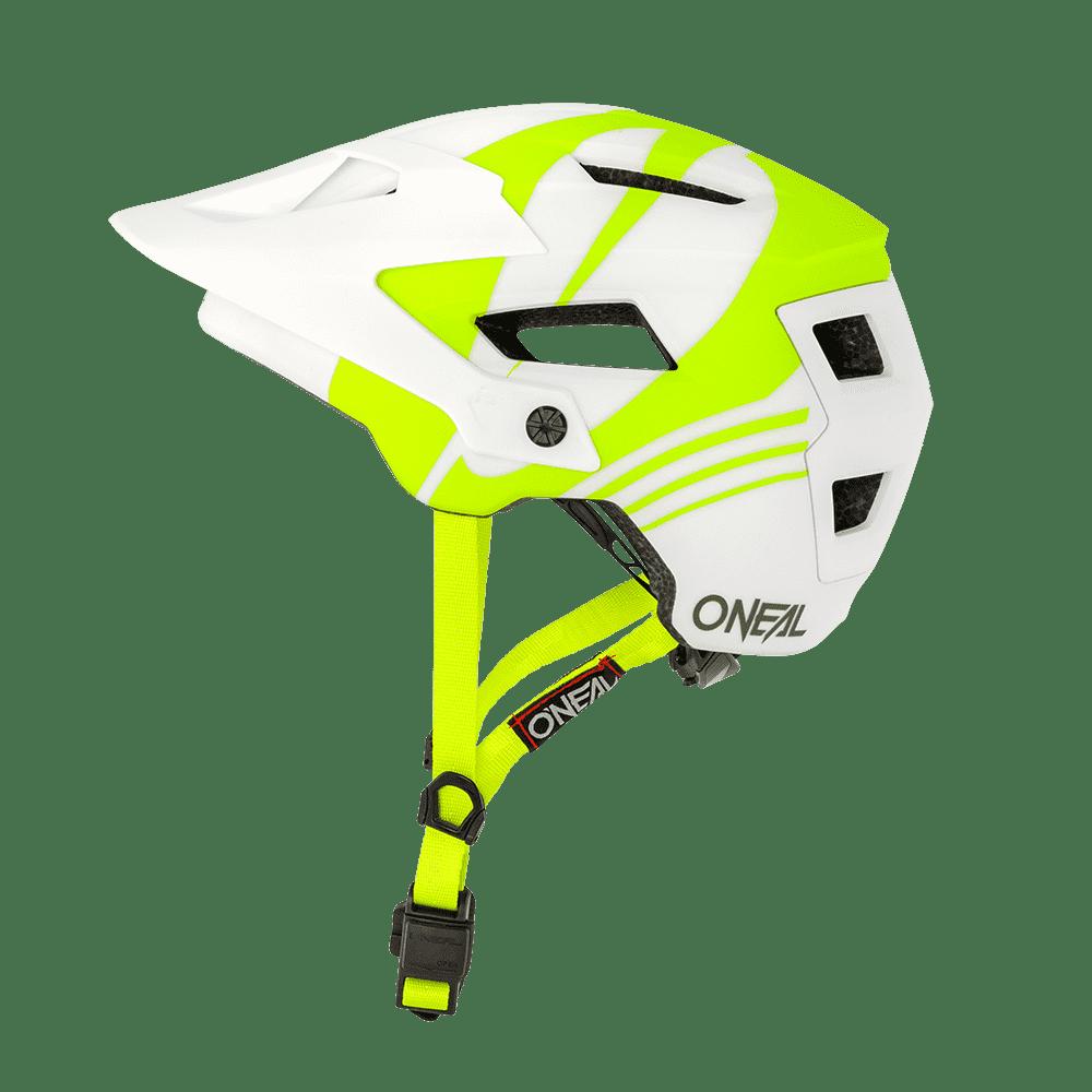Шлем велосипедный O'Neal DEFENDER Helmet NOVA, white/neon yellow недорого