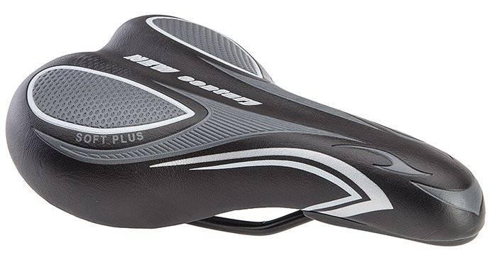 Седло велосипедное Stels AZ-3020, 250x140 мм, черный/серый, 470157