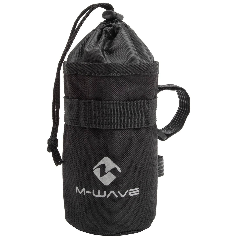 Фото - Флягодержатель M-WAVE, нейлон, на 3х липучках, на вынос, раму, штырь, черный, 5-122342 адаптер b twin крепеж для флягодержателя на руль на вынос руля или на подседельный штырь