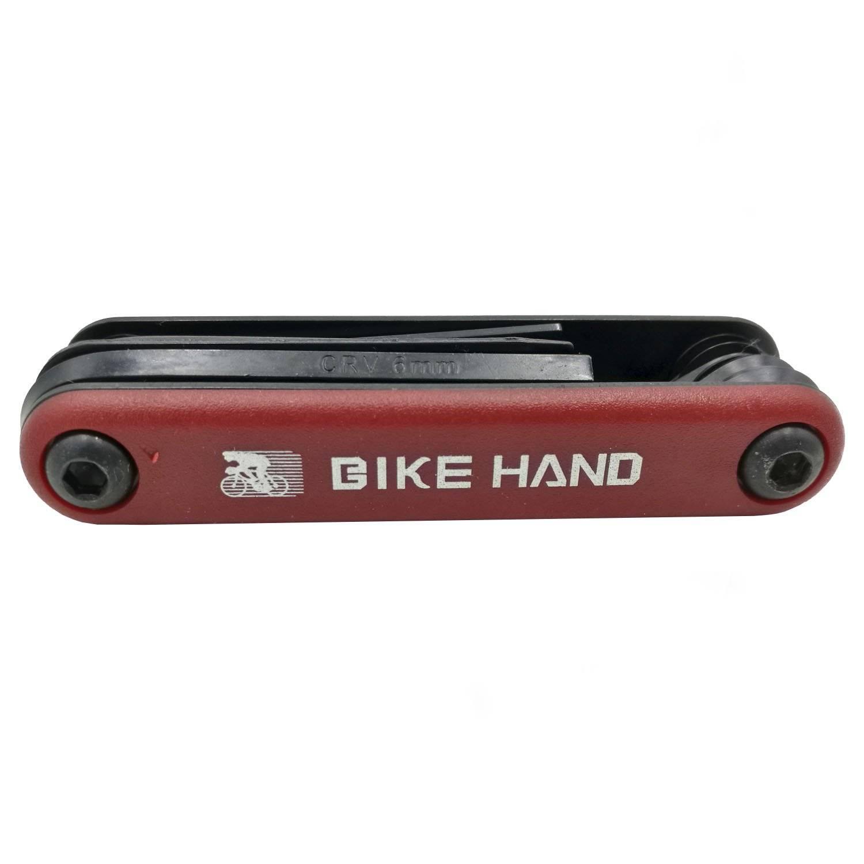 Мультитул велосипедный BIKEHAND YC-270, 2/2.5/3/4/5/6 мм, +/- отвертки, 6-14270 кулон родонит прямоугольник биж сплав 6 5 см