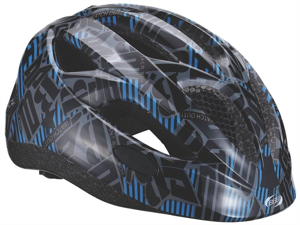 Детский велошлем BBB 2015, helmet Hero (flash), черно-синий, US:M (51-55 см), BHE-48