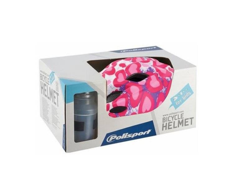 Фото - Комплект Polisport S junior premium, шлем подростковый/фляга/держатель Glitter hearts, matt, PLS8740900001 крылья комплект 20 24 polisport colorado junior