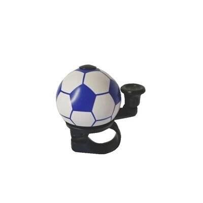 Звонок велосипедный Forward Футбольный мяч, алюминиевый D40 мм, синий
