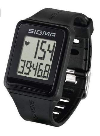 Спортивные часы-пульсометр Sigma iD.GO, 3 функции, с нагрудным датчиком, black, 24500