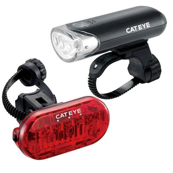 Фонари велосипедные Cat Eye EL135N/LD135, комплект (передний+задний), CE8900151