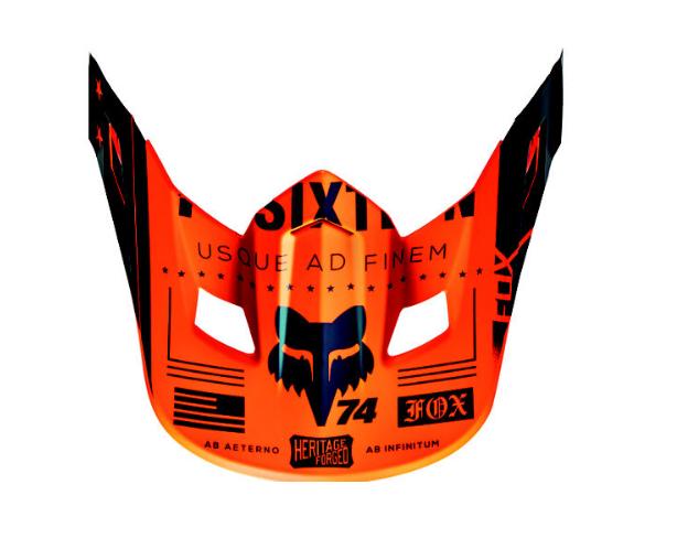 Козырек к велошлему Fox V2 Union Helmet Visor, Orange, 15853-009-OS