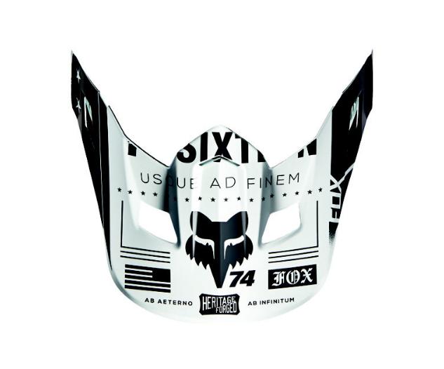 Козырек к велошлему Fox V2 Union Helmet Visor, White, 15853-008-OS
