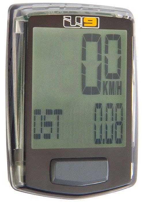 Велокомпьютер ECHOWELL U9, 9 функций, проводной, черный, 060027