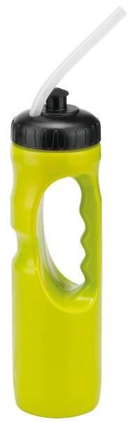 Фляга велосипедная Stels CB-15124C, 1 л, с питьевой трубкой, черный/желтая, 550050, LU063760