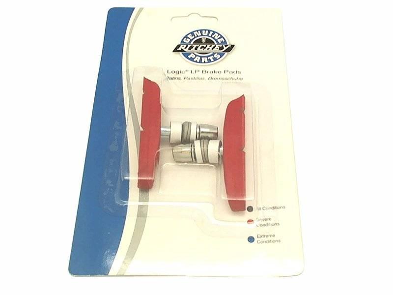 Колодки тормозные RITCHEY MTN LOGIC LP для V-brake, 70 мм, красные, в торговой упаковке, PRD10912