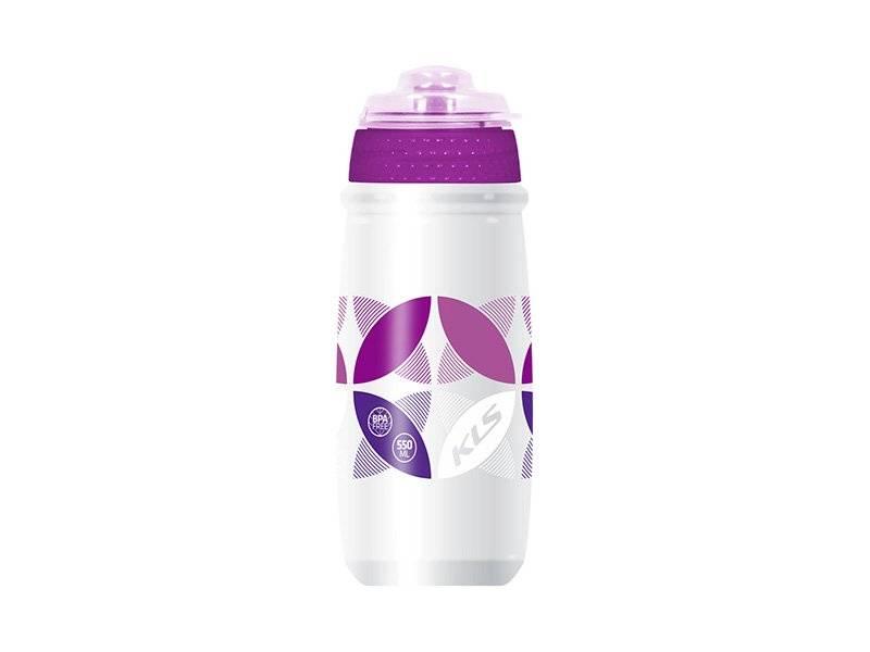 Фляга KELLYS ATACAMA, 0.65л, белый/фиолетовый, с крышкой
