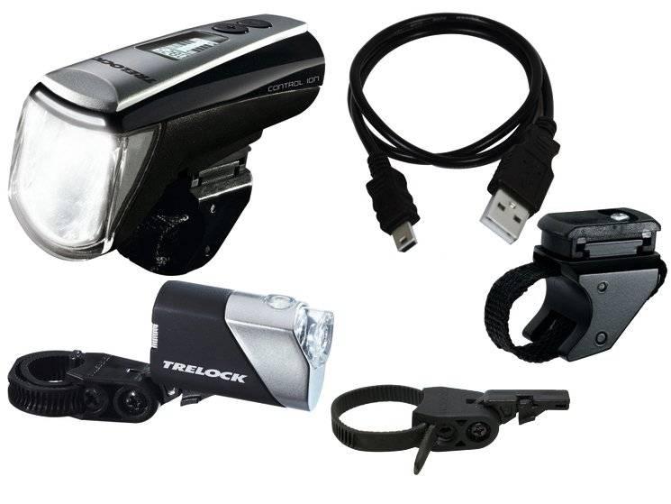 Набор фонарей TRELOCK, диодный, передний LS 950 CONTROL ION, задний LS 710 REEGO, чёрный, 8002426