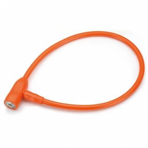Велосипедный замок HANDYWAY спиральный тросовый, на ключ, 12 x 1200 мм, оранжевый, CL-608