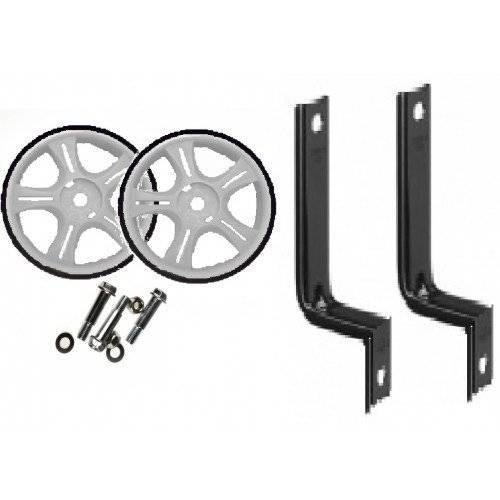 Колеса приставные Vinca Sport, пара, стойки - сталь, на 12-16, колесо - пластик, белый, HRS 12-16 white
