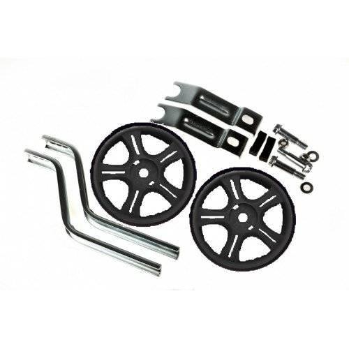 Колеса приставные Vinca Sport, пара, стойки - сталь, на 12-16, колесо - пластик, черный, HRS 12-16 black