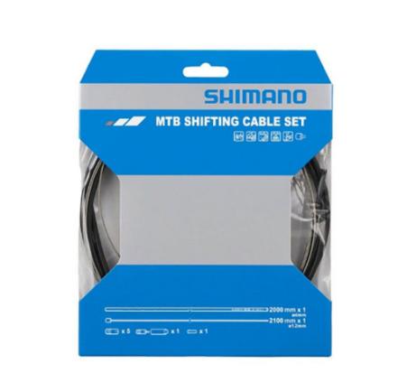 Трос+оплетка Shimano SP41, для заднего переключателя, оплетка 2000мм черный, трос 1.2X2100мм, Y01V98112