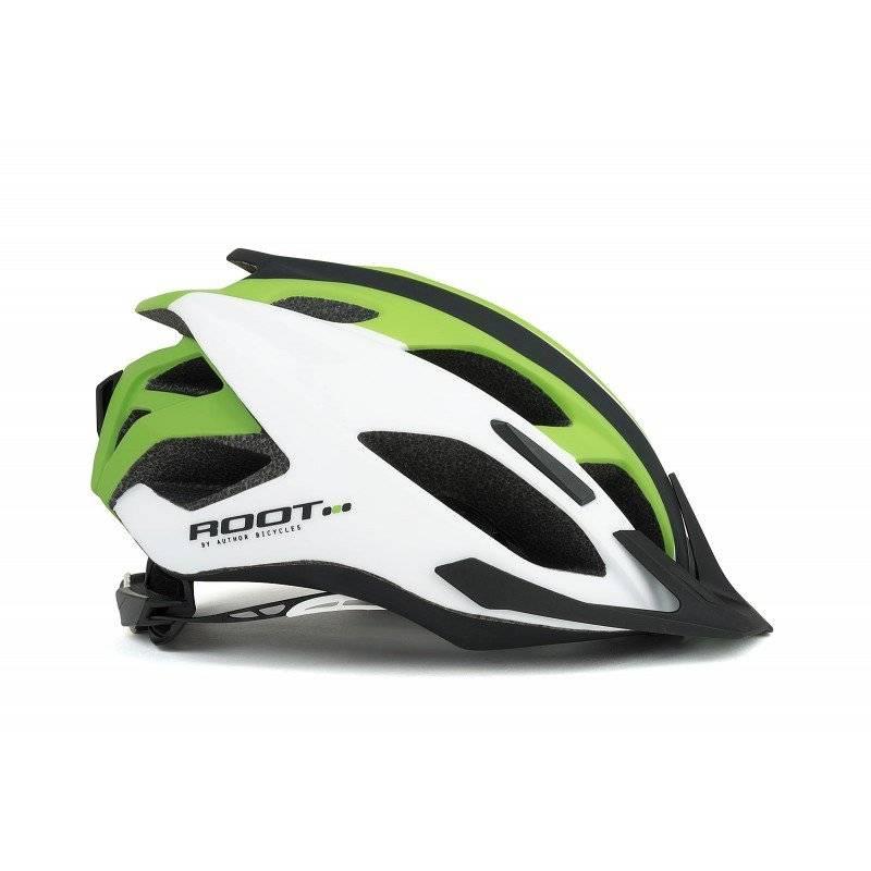 Шлем велосипедный AUTHOR Root 171, белый/зеленый/черный