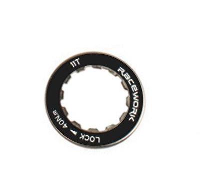 Стопорная гайка RACEWORK, для кассеты Shimano, 11T, черный