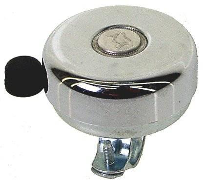 Звонок сталь D=59мм сильный звук защита от дождя серебристый 5-420011