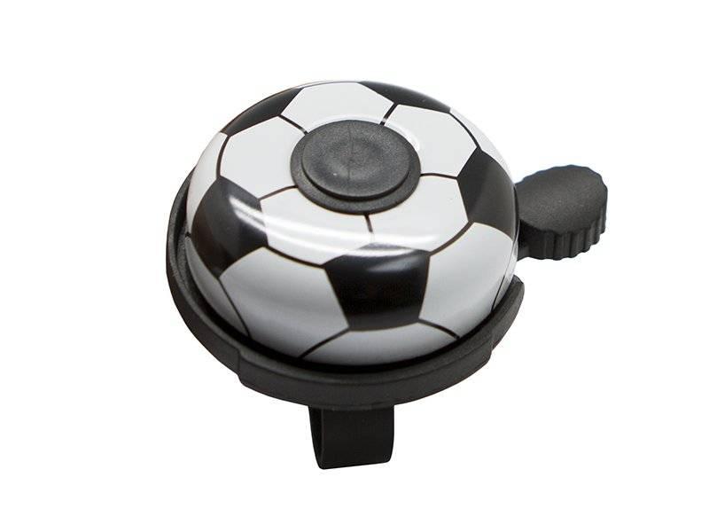 Звонок велосипедный TBS FY-01A-F5, диаметр 53мм, алюминиевый купол, пластиковая база, футбольный мяч