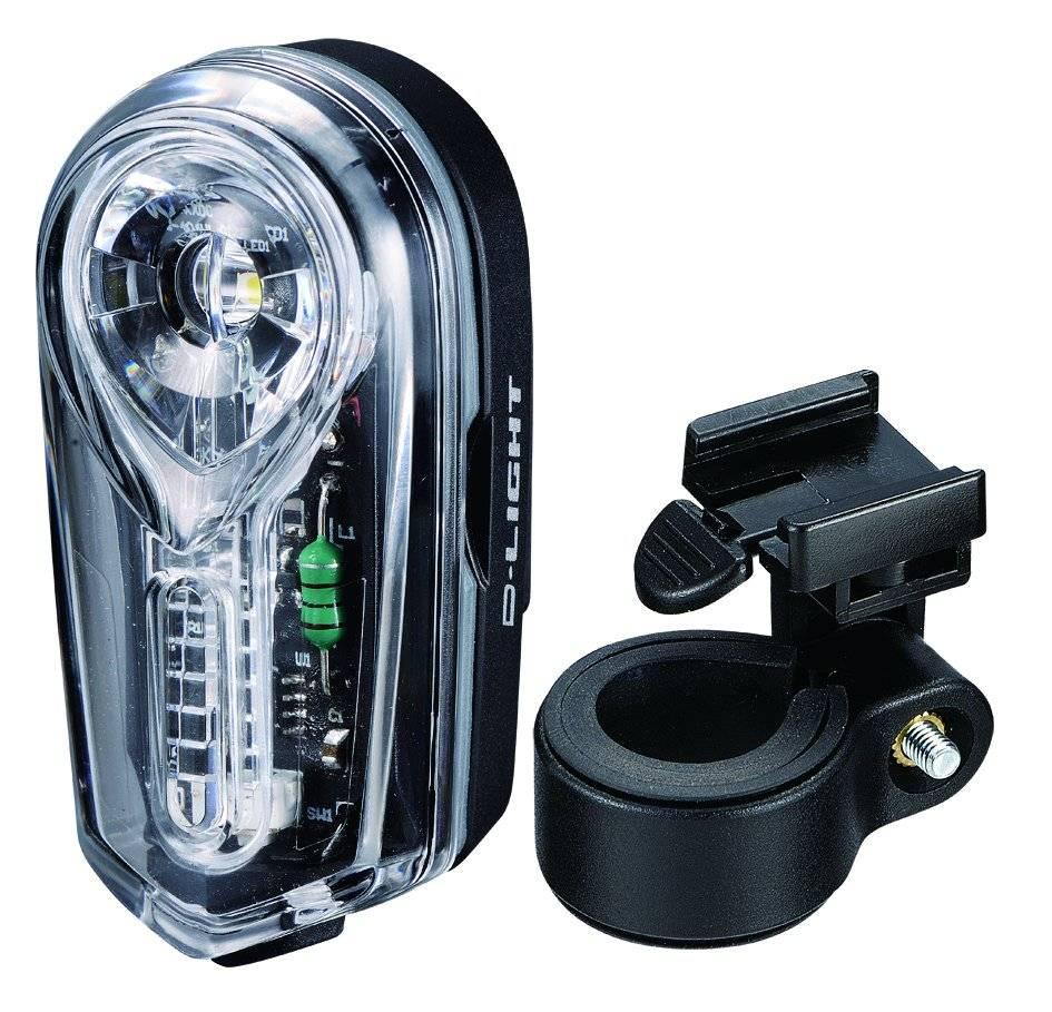 Фонарь велосипедный D-LIGHT CG-406W, 0,5Вт, черный, 3064
