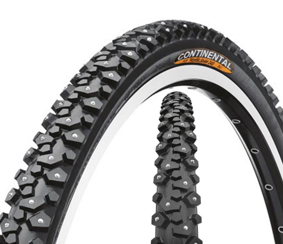 Покрышка велосипедная Continental Nordic Spike, 700 x 42C, (42-622), 240 шипов, черный