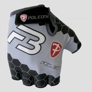 Велоперчатки Polednik F-3 BABY, детские, черный/серый