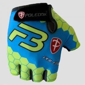 Велоперчатки Polednik F-3 BABY, детские, синий зеленый