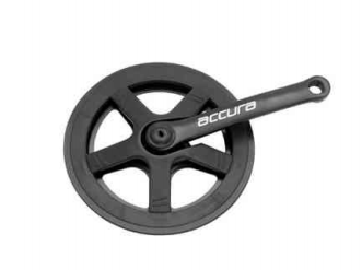 Система шатунов велосипедная ACCURA, звезда на 44 зуба, шатун 152 мм, сталь, черный, ST05-ORS100FG (10044)