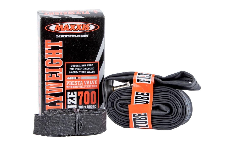 Камера велосипедная Maxxis UltraLight, 700x18/25C, ниппель Presta 60 мм, велониппель, IB69859200