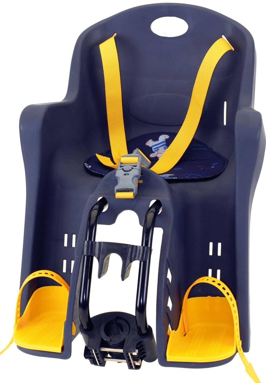 Детское велокресло на раму/вынос TUV темно-синее, до 15кг переднее, 5-259846, фото 1