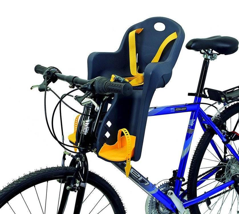 Детское велокресло на раму/вынос TUV темно-синее, до 15кг переднее, 5-259846, фото 11