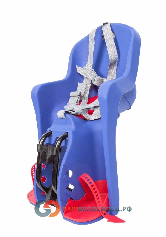Детское велокресло на раму/вынос TUV темно-синее, до 15кг переднее, 5-259846, фото 3
