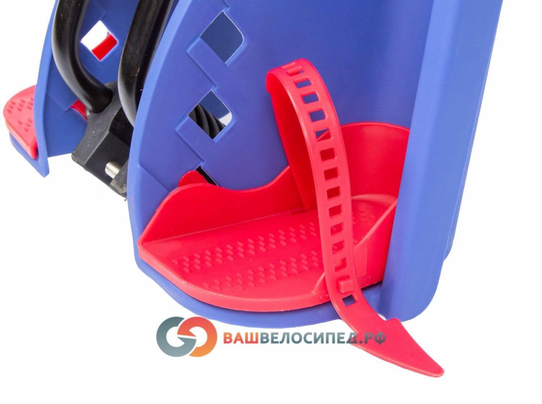 Детское велокресло на раму/вынос TUV темно-синее, до 15кг переднее, 5-259846, фото 4